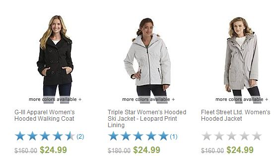 womens clearance jackets sears