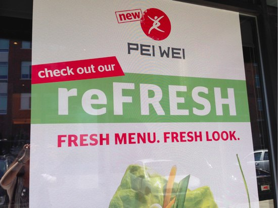 PEI WEI reFRESH Menu & Giveaway