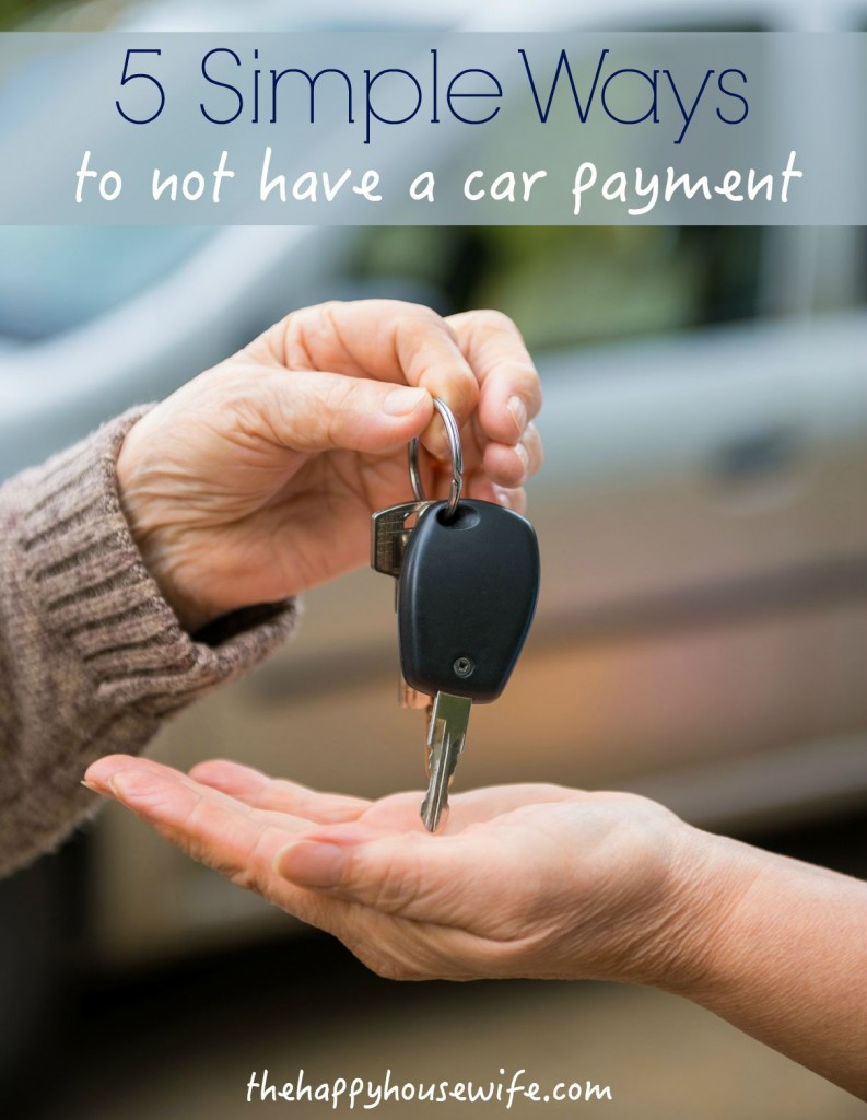 5 ways to help you save up and pay cash for a car.