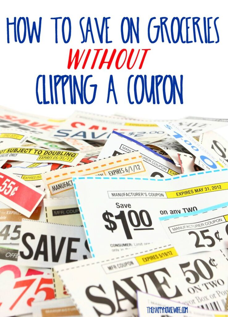 You don't have to be a coupon queen to save money on your groceries. I haven't clipped a coupon in years, yet I still save 20-40% on my grocery bill. Here's how you can save on groceries without clipping coupons.