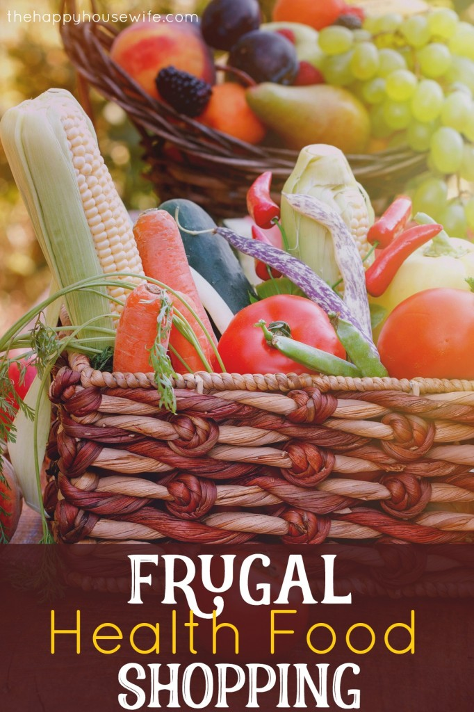 frugal health food shopping
