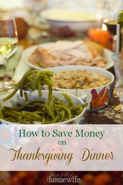 How to Save Money on Thanksgiving Dinner | The Happy Housewife