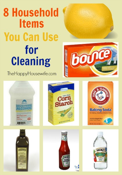 8 household items you can use for cleaning the happy housewife frugal living - Household items use ...