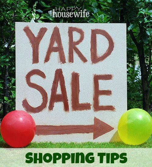 Yard Sale Shopping Tips   The Happy Housewife