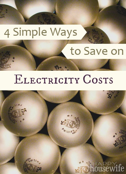 4 Simple Ways to Save on Electricity Costs at The Happy Housewife