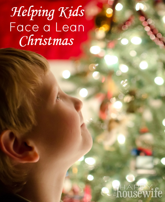 Helping Kids Face a Lean Christmas at The Happy Housewife