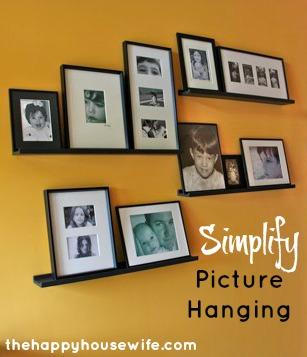 easy way to hang photos