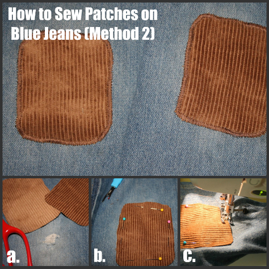 3 Ways to Mend Holes in Blue Jeans - The Happy Housewife™ :: Home ...