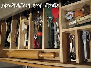 DIY Customized Kitchen Utensil Drawer
