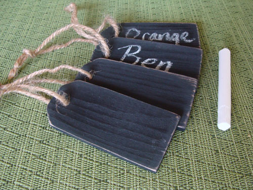 Chalkboard tags the happy housewife home management for Diy chalk labels