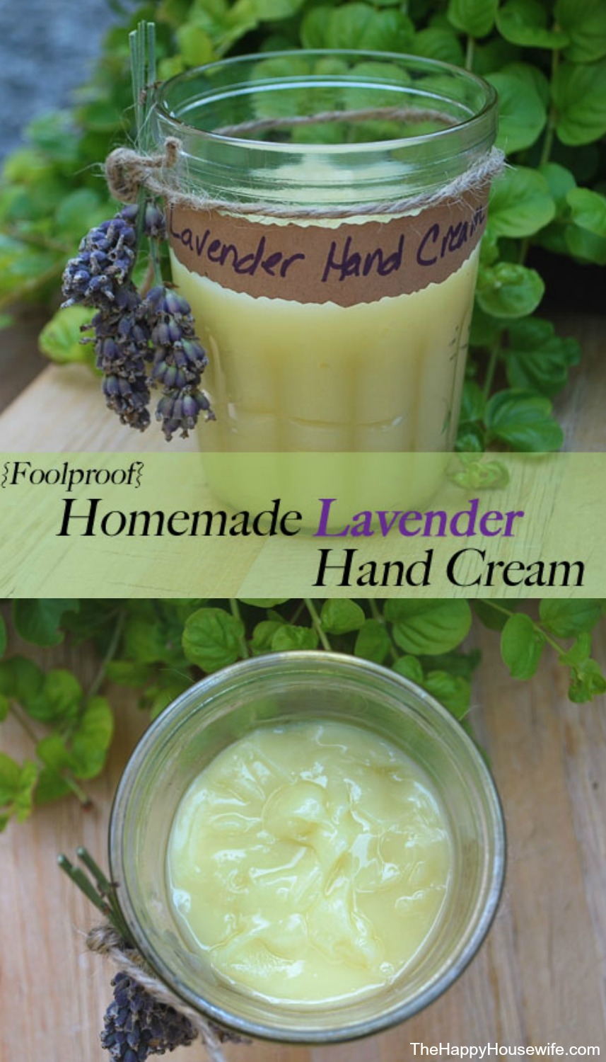Homemade Lavender Hand Cream | The Happy Housewife