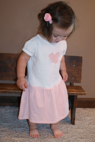 How to make a t shirt dress the happy housewife home for Make a dress shirt