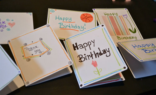 diy card station  the happy housewife™  home management, Birthday card