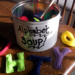 felt alphabet soup
