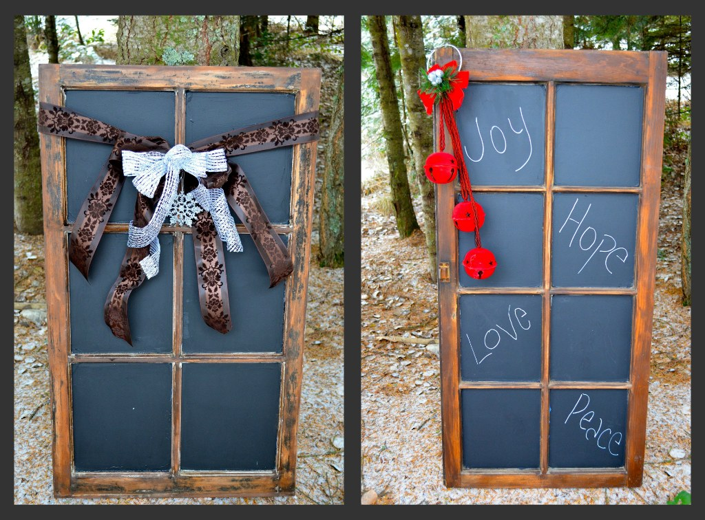 Window Frame Chalkboards: Homemade Christmas Gifts