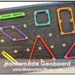 homemade geoboard