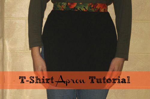 16 DIY Upcycled T-Shirt Projects (Apron)| The Happy Housewife