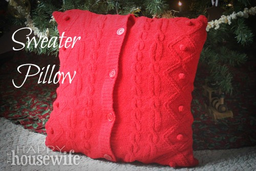 Turn a cardigan that no longer fits into a beautiful sweater pillow. 100 Days of