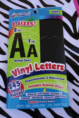 Inexpensive Vinyl Letters