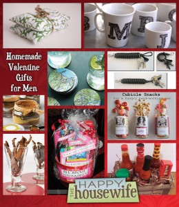 Fourteen homemade gifts for men the happy housewife for Easy gifts for men