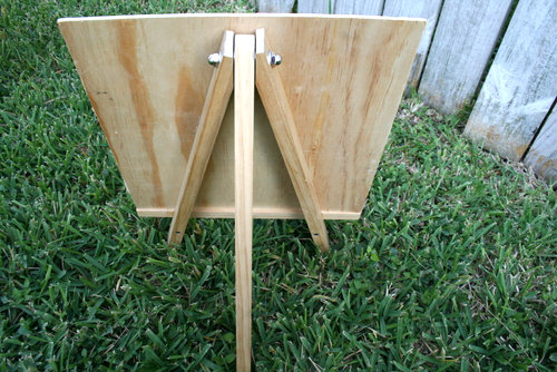 Back of a DIY Art Easel