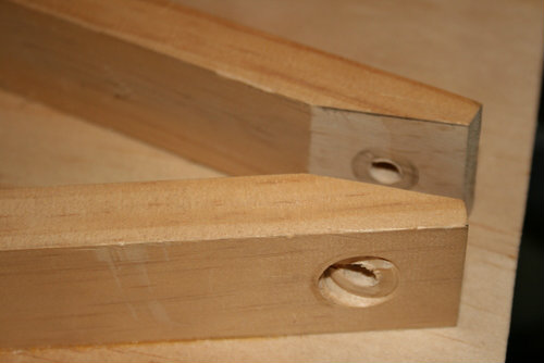 Drilled Holes for Art Easel