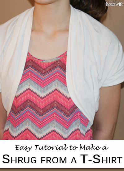 How To Make A Shrug From A T-Shirt - The Happy Housewife™ :: Home