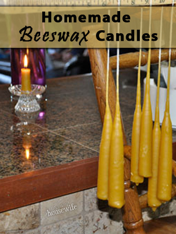 Homemade Beeswax Candles | The Happy Housewife