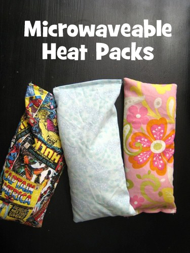 Microwaveable Heat Packs Homemade Christmas Gifts