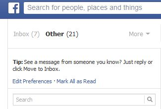 "How to find the Facebook ""Other"" Inbox 