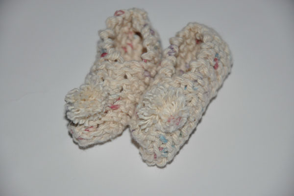 Homemade Gifts from a Knitted Square (Baby Booties) | The Happy Housewife