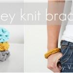 jersey knit bracelets
