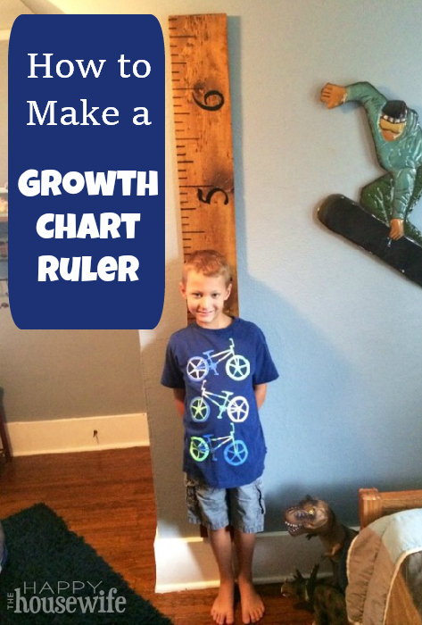 How to Make a Growth Chart Ruler | The Happy Housewife