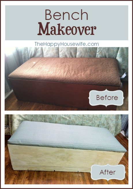 Bench Makeover at The Happy Housewife