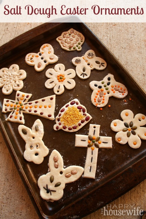 Salt Dough Easter Ornaments at The Happy Housewife