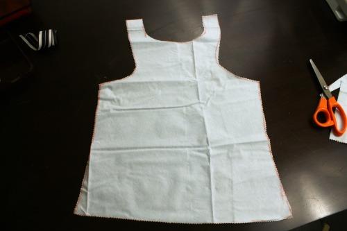 Easy Sew Kids Waterproof Art Smock (Step 3) at The Happy Housewife