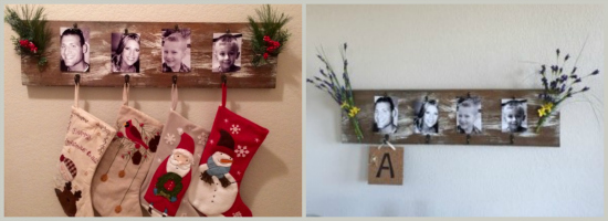 Christmas stocking holder updated for spring! At The Happy Housewife