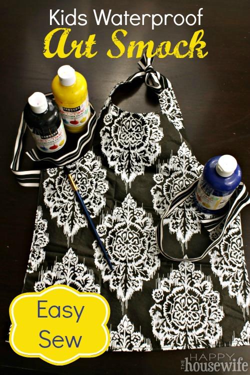 Easy Sew Kids Waterproof Art Smock at The Happy Housewife