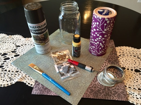 DIY Mason Jar Tissue Holder at The Happy Housewife