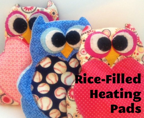 Rice Filled Heating Pads Homemade Christmas Gifts The
