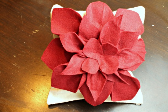 Felt Flower Accent Pillow at The Happy Housewife