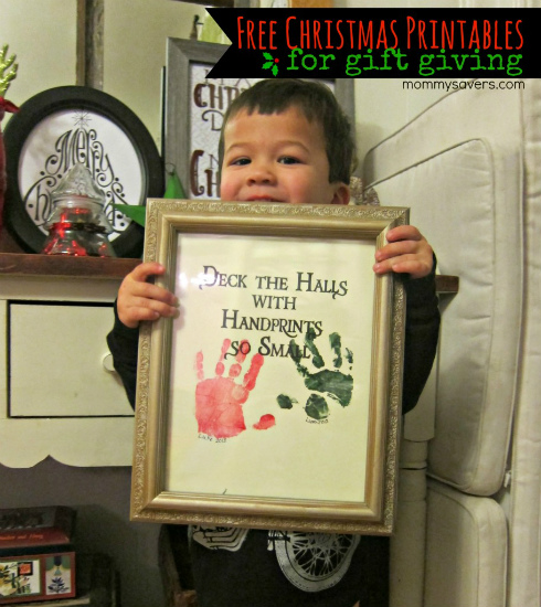 Great Diy Christmas Gift: Handprint Picture: Homemade Christmas Gifts