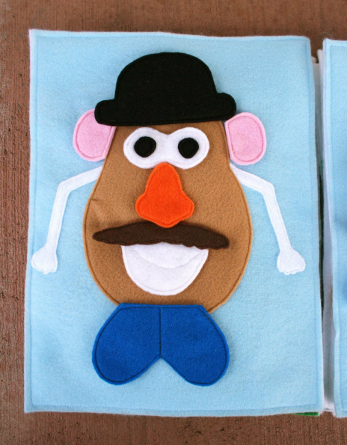 Mr Potato Head Quiet Book Homemade Christmas Gifts The