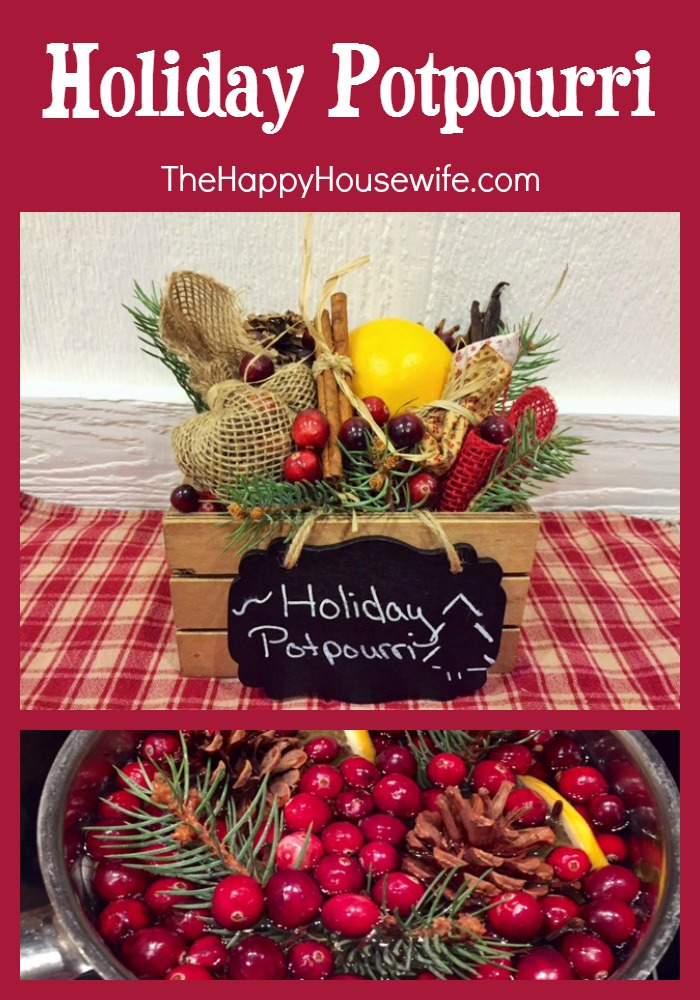This Holiday Potpourri will bring a smile to the face and the smell of Christmas to the home. 100 Days of Homemade Christmas Gifts at The Happy Housewife