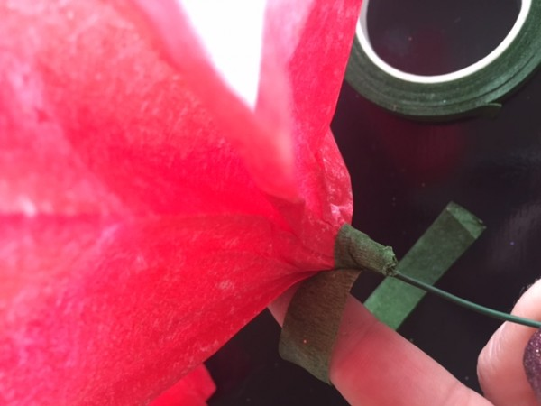 Coffee Filter Valentine's Day Bouquet Step 10
