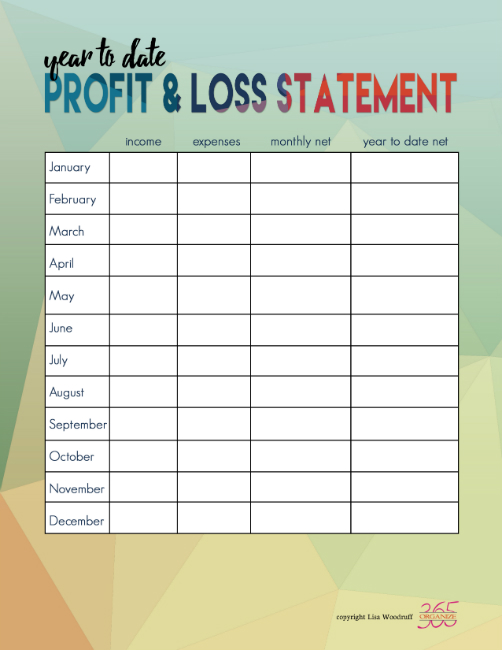 Organize 365 Profit & Loss Statement | With tax organization comes the urge to purge your files. Here are 3 ways I am organizing my tax documents and files this year.