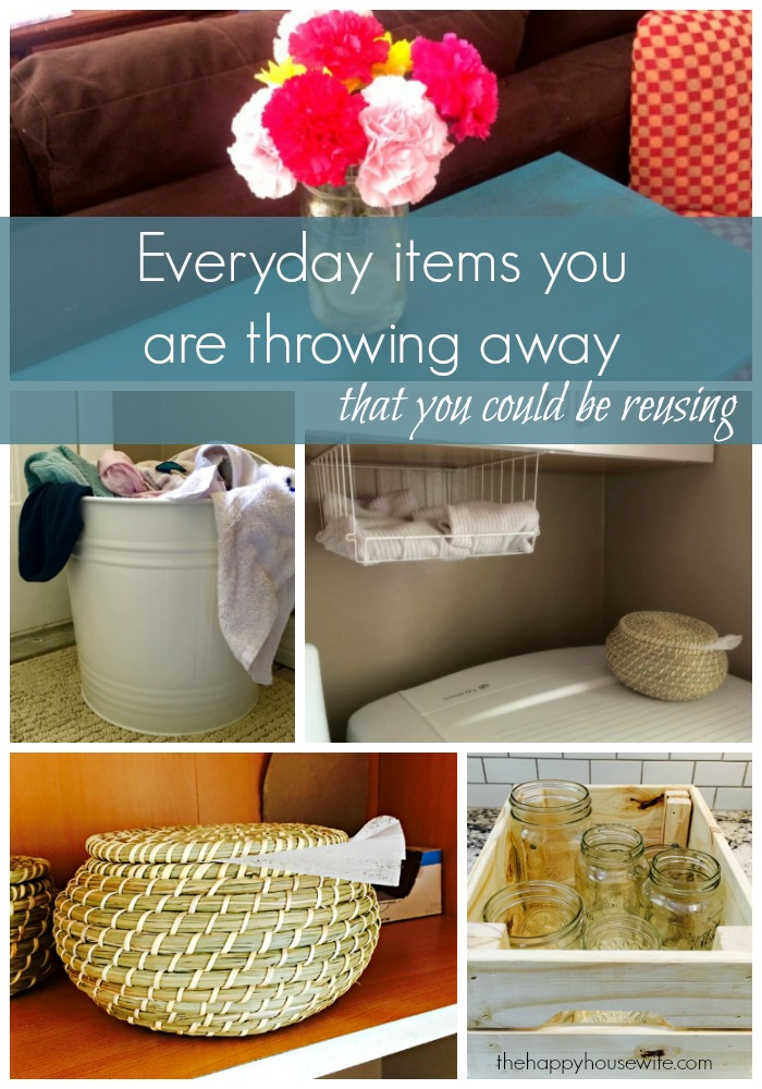 Items you throw away every day that you can reuse or for How can i recycle things at home
