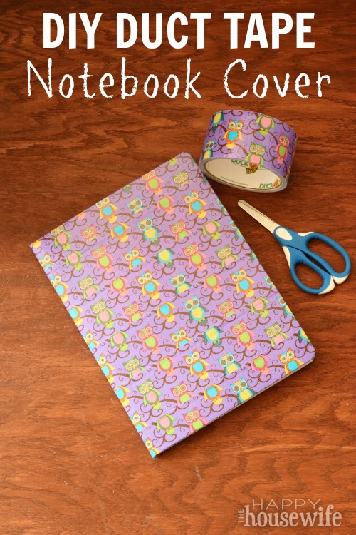 This Duct Tape Composition Notebook Cover is great for back-to-school fun. Your kids will love designing their own notebooks to stand out from the crowd.