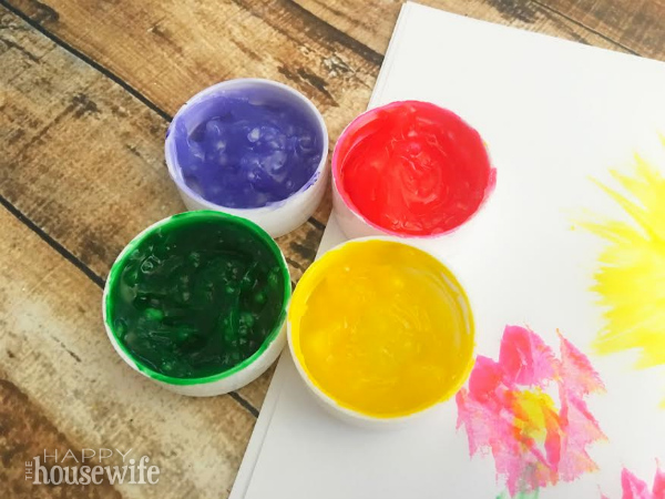 This easy edible marshmallow paint is safe for kids and is made from common kitchen ingredients. You can let young kids help to measure and stir, and, of course, choose the colors!