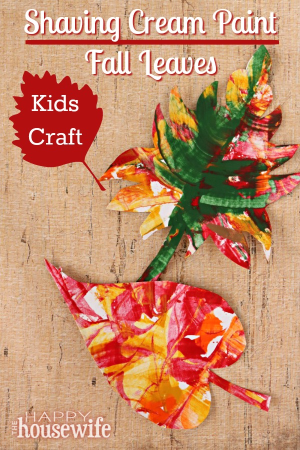 This Shaving Cream Paint craft is fun to do with kids on a lazy afternoon. As they dream of cooler temperatures, they can create fall leaves as sweet reminders of the beautiful colors of autumn.